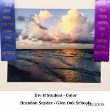 Brandon Synder – Student Div II 1st Color